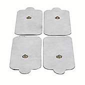TensPro 4 Pack X-LARGE TENS Pads Electrodes with High Conductivity