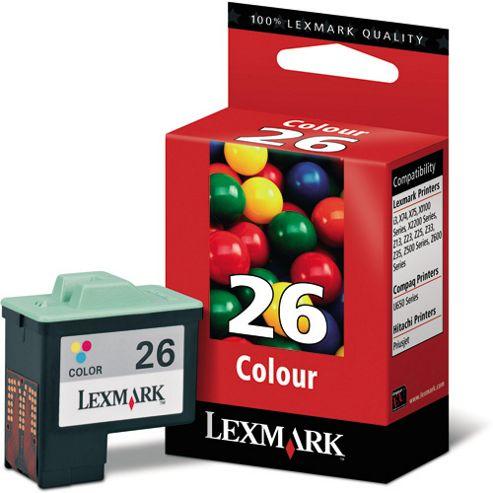 Lexmark No 26 High Resolution Colour Print Ink Cartridge