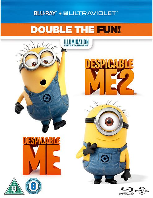 Despicable Me 1 & 2 Bluray