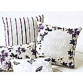Dreams n Drapes Sakura Mauve Cushion Cover - 43x43cm