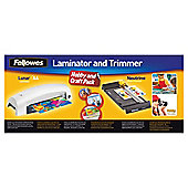 Fellowes A4 Lunar Laminator and Trimmer Hobby Craft Pack