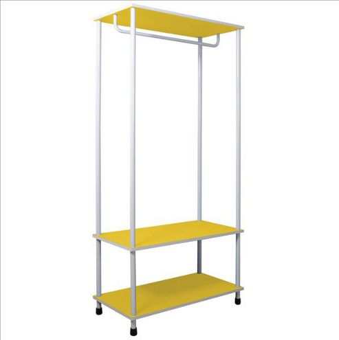 Candie - Open Wardrobe / Clothes Storage Rail - Yellow / White