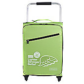 Z Frame 4-Wheel Super-Lightweight Suitcase, Green Medium