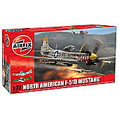 1:72 - North American P-51F Mustang Series 2 Plastic Model Kit - Airfix