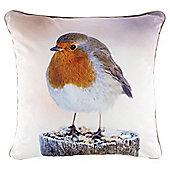 Croft Xmas Robin photographic Cushion