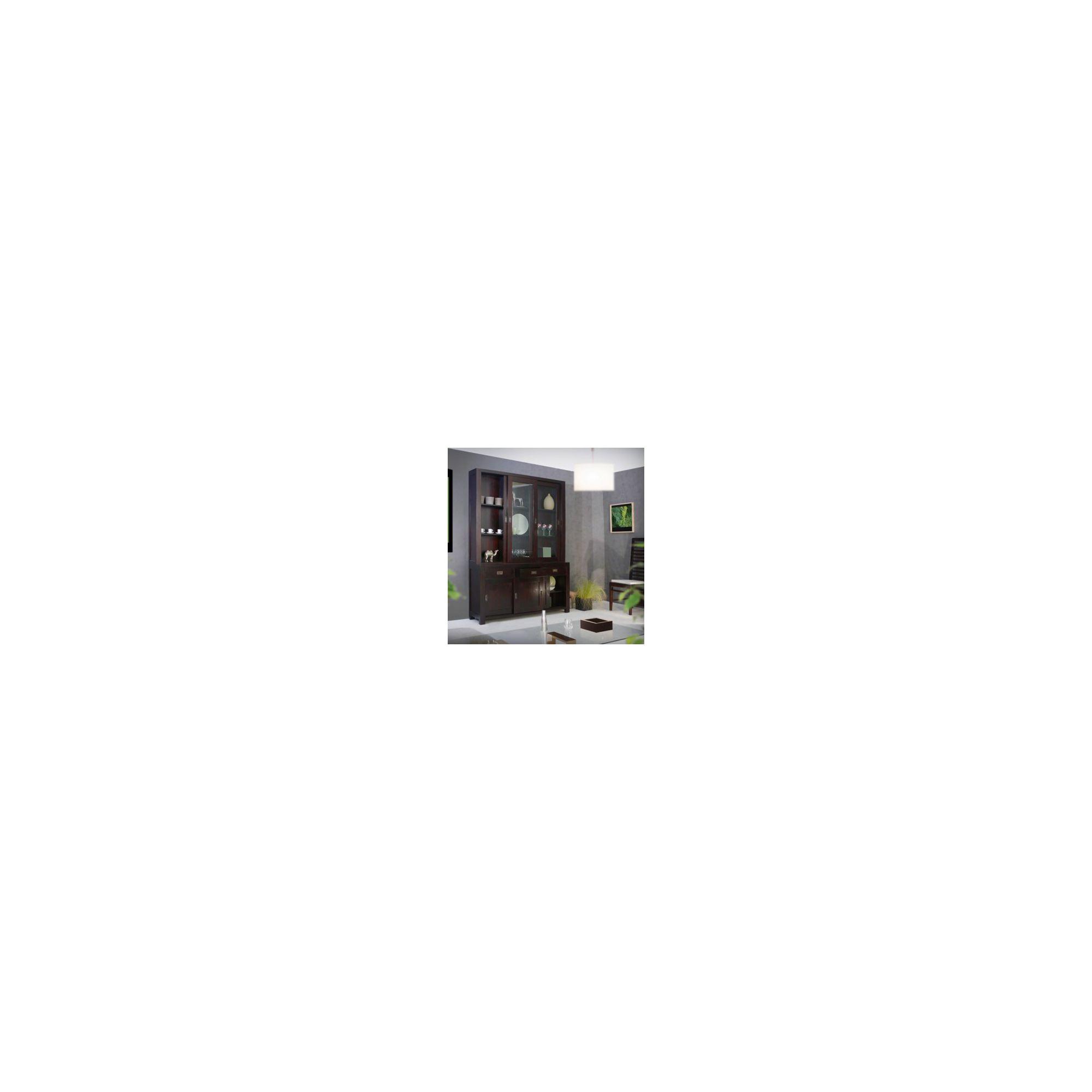 Tikamoon Klaten Mahogany Display Cabinet at Tesco Direct