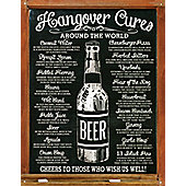 Hangover Cures Around The World Tin Sign