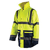 "Silverline Hi-Vis Two-Tone Jacket Class 3 L 100-108cm (39-42"")"