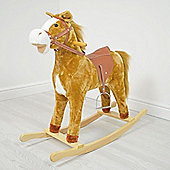 Cuddles Collection Large Rocking Horse (Light Brown)