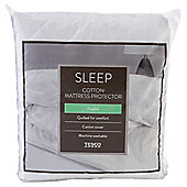 Tesco 100% Cotton Superking Mattress Protector