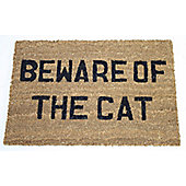 Dandy Beware of The Cat Doormat - 60cm x 40cm