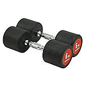 Bodymax Pro V3 Rubber Dumbbells - 6kg