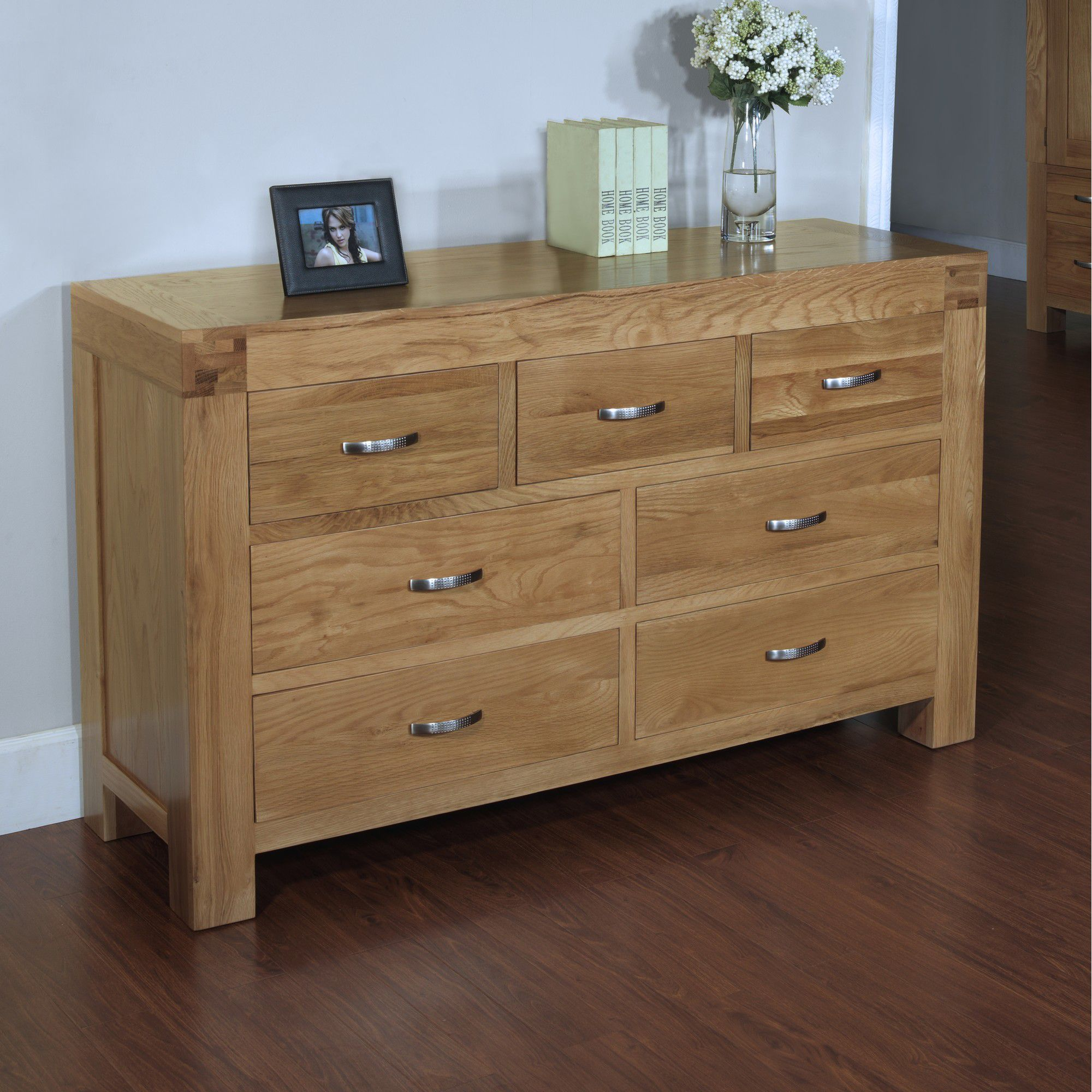 Hawkshead Rustic Oak Blonde 7 Drawer Chest at Tesco Direct