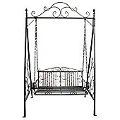 Bentley Garden Wrought Iron Grey Outdoor Swing Seat