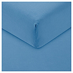 Double Fitted Sheet - Sea Blue