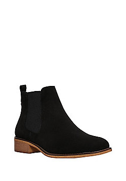 F&F Faux Suede Chelsea Boots - Black