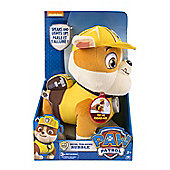 "Paw Patrol Real 11"" Plush Talking Rubble, Speaks & Lights Up!"