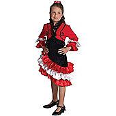 Child Spanish Girl Costume 2Xl