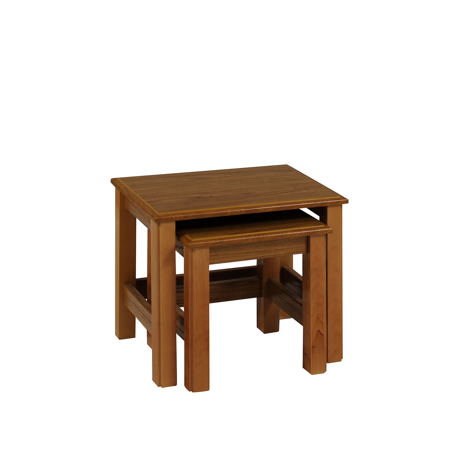 Caxton Tennyson Nest of Two Tables in Teak at Tesco Direct