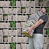 Muriva Bookshelves Wallpaper
