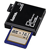 Hama All in One USB 2.0 SD/microSD Card Reader, black