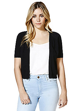 F&F Cropped Cardigan with As New Technology - Black
