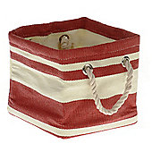 Wicker Valley Tobs Soft Storage New England Medium Square Bag in Red