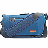Promate Azzure-L Premium Messenger Bag for Laptops & Tablets up to 15.6 (Blue)
