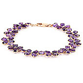 QP Jewellers 7.5in 20.70ct Amethyst Blossom Bracelet in 14K Rose Gold