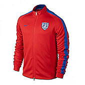 2014-15 USA Nike Authentic N98 Jacket (Red) - Red