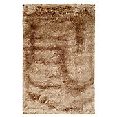 Husain International Plain Beige Woven Rug - 150cm x 90cm (4 ft 11 in x 2 ft 11.5 in)