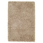 Husain International Plain Beige Shag Rug - 230cm x 160cm (7 ft 6.5 in x 5 ft 3 in)