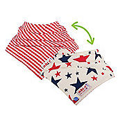 Skibz Doublez Poppers - Red & Blue Stars/Red Gingham