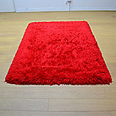 Flair Sumptuous Shaggy Rugs in Red133x133cm