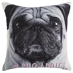 Novelty Pug Addict Cushion