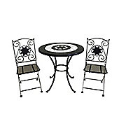 Rimini Bistro Set - 60cm Table with 2 Folding Chairs