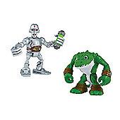 Teenage Mutant Ninja Turtles Half-Shell Heroes Kraang and Leatherhead Figures Double Pack