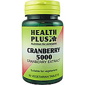 Health Plus Cranberry 5000 60 Veg Tablets