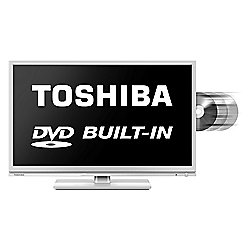 Toshiba 24D1534 24 Inch DVD Combi HD Ready 720p LED TV / DVD Combi with Freeview - White