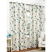 Hamilton McBride April Eyelet Lined Curtains - Teal