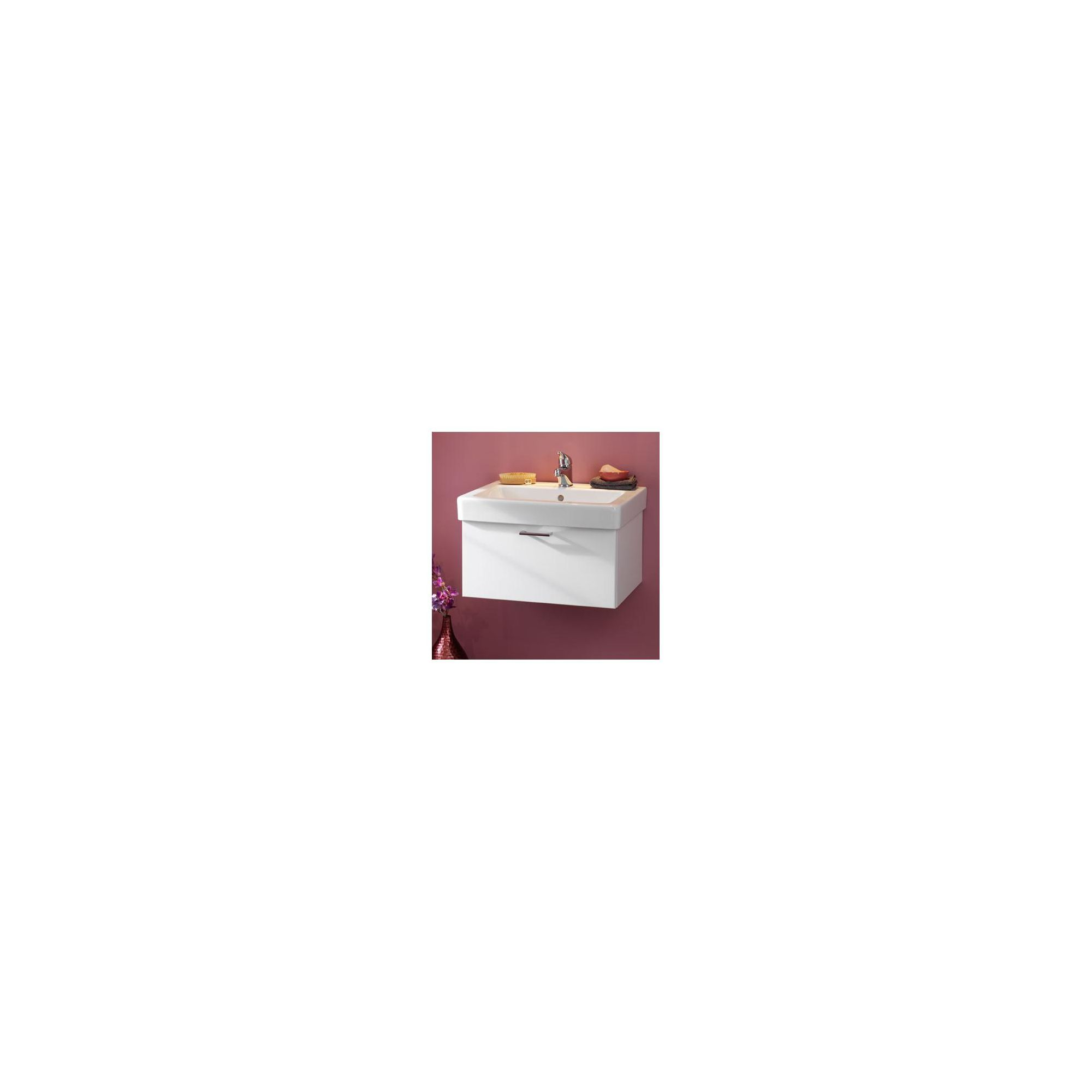 Duchy Trerise White Wall Hung 1 Drawer Vanity Unit and Basin - 600mm Wide x 445mm Deep
