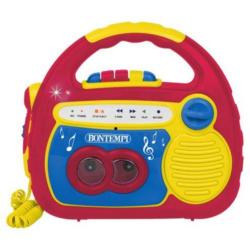 Bontempi Red Cassette Recorder
