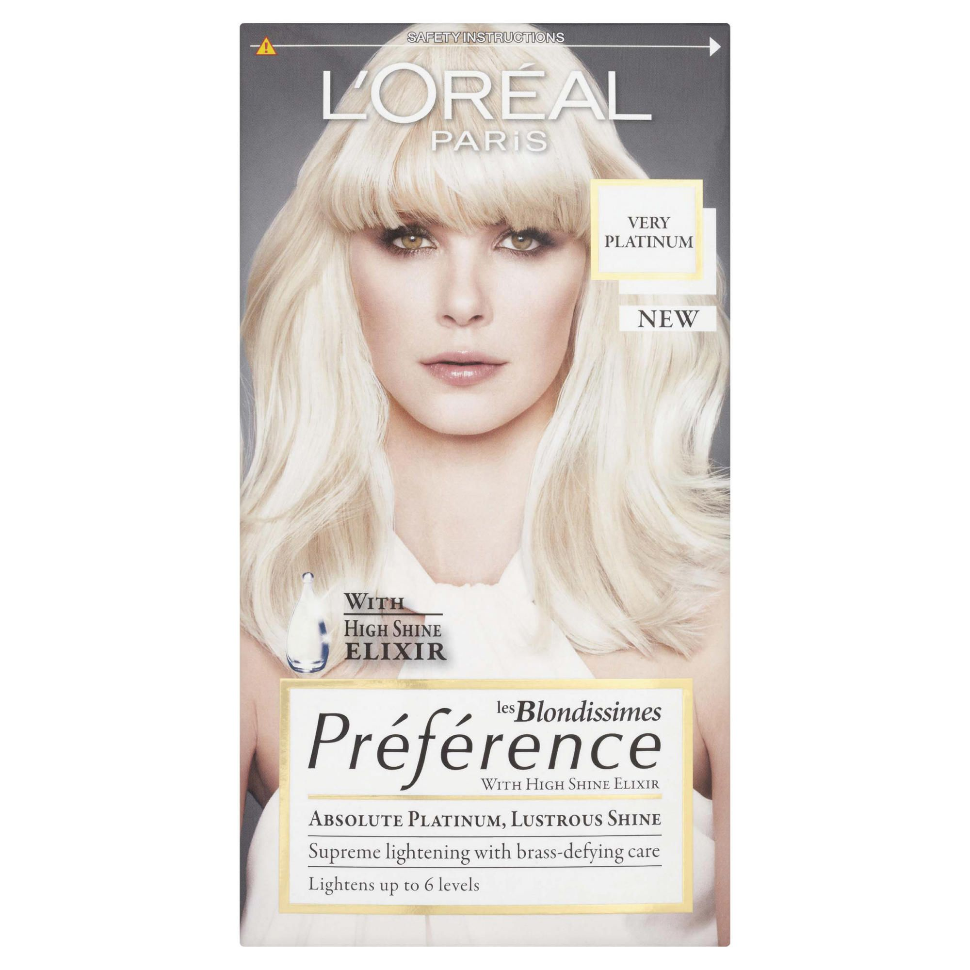 L'Oreal Preference Platinum Very Light Blonde 6L
