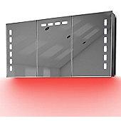 Demist Cabinet With LED Under Lighting, Sensor & Internal Shaver Socket k379r