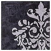 Damask Acrylic Rug 160 x 230cm, Grey