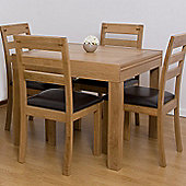 G&P Furniture 5 Piece Extending Dining Table Set