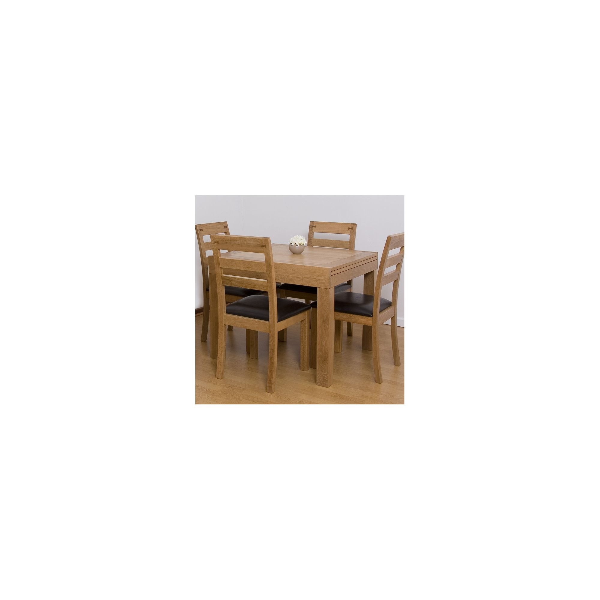 G&P Furniture 5 Piece Extending Dining Table Set at Tesco Direct