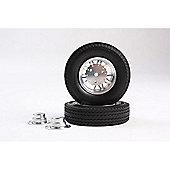 Tamiya 56513 1/14 20 Spoke Aluminium Wheels Outside Rear (2Pcs) - Rc Hop-Ups