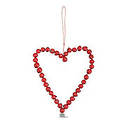 Large Artificial Hanging Red Berry Heart Shaped Decoration