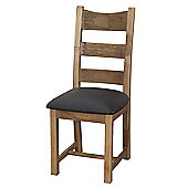 Furniture Link Danube Chair in Weathered Oak